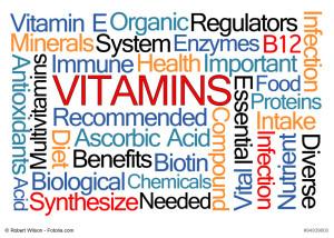 Vitamins Word Cloud
