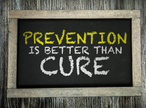 Prevention is Better than Cure written on chalkboard